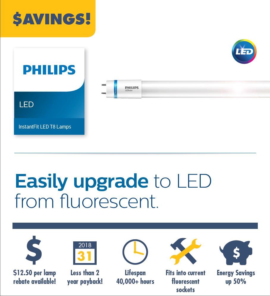 Upgrade to LED T8
