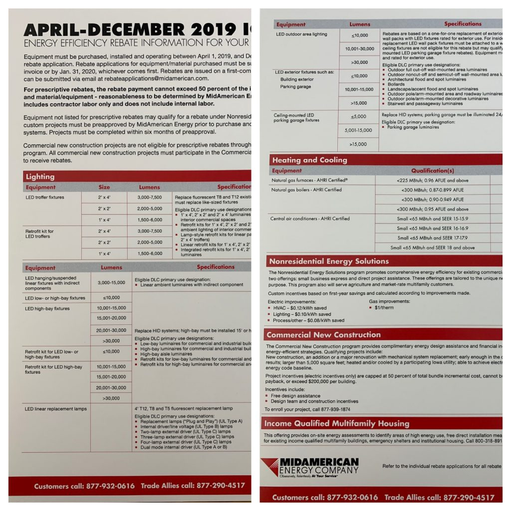 2019 MidAmerican Energy Rebates Announced!